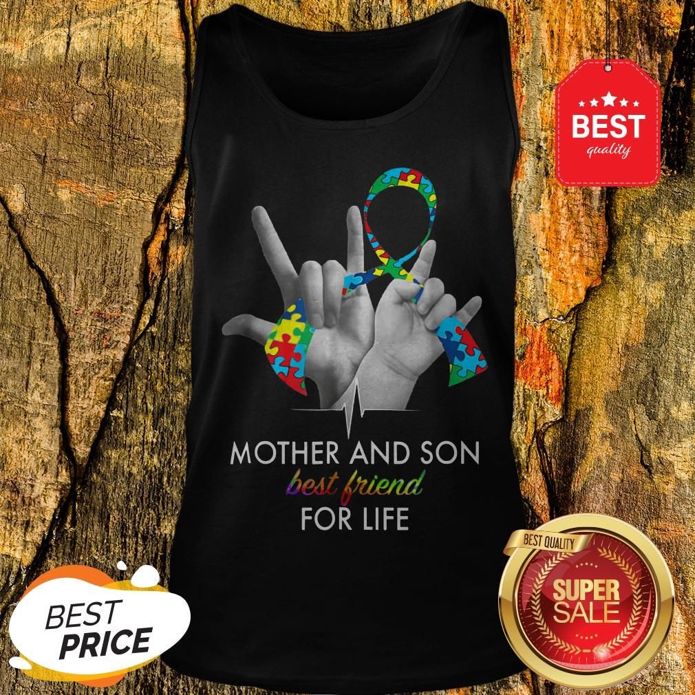 Autism Awareness Mother And Son Best Friends For Life Tank Top