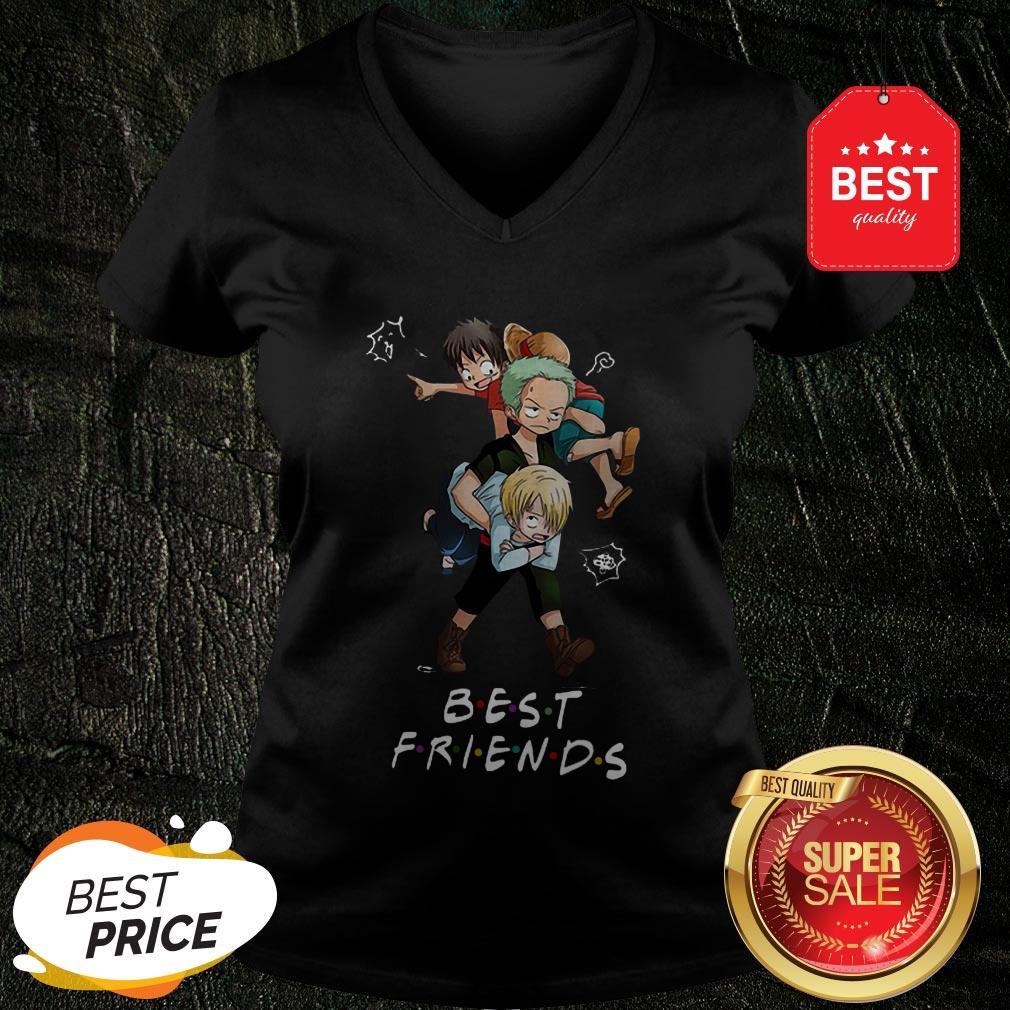 Best Friends Monkey D. Luffy Roronoa Zoro Sanji One Piece V-neck