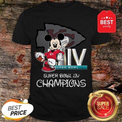 Disney Mickey Kansas City Chiefs Super Bowl Liv Champions Shirt