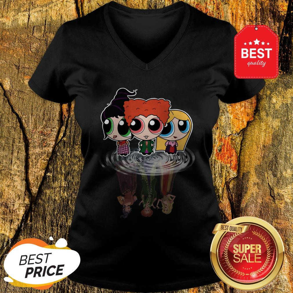 Hocus Pocus Characters Chibi Reflection Water Mirror Disney V-neck