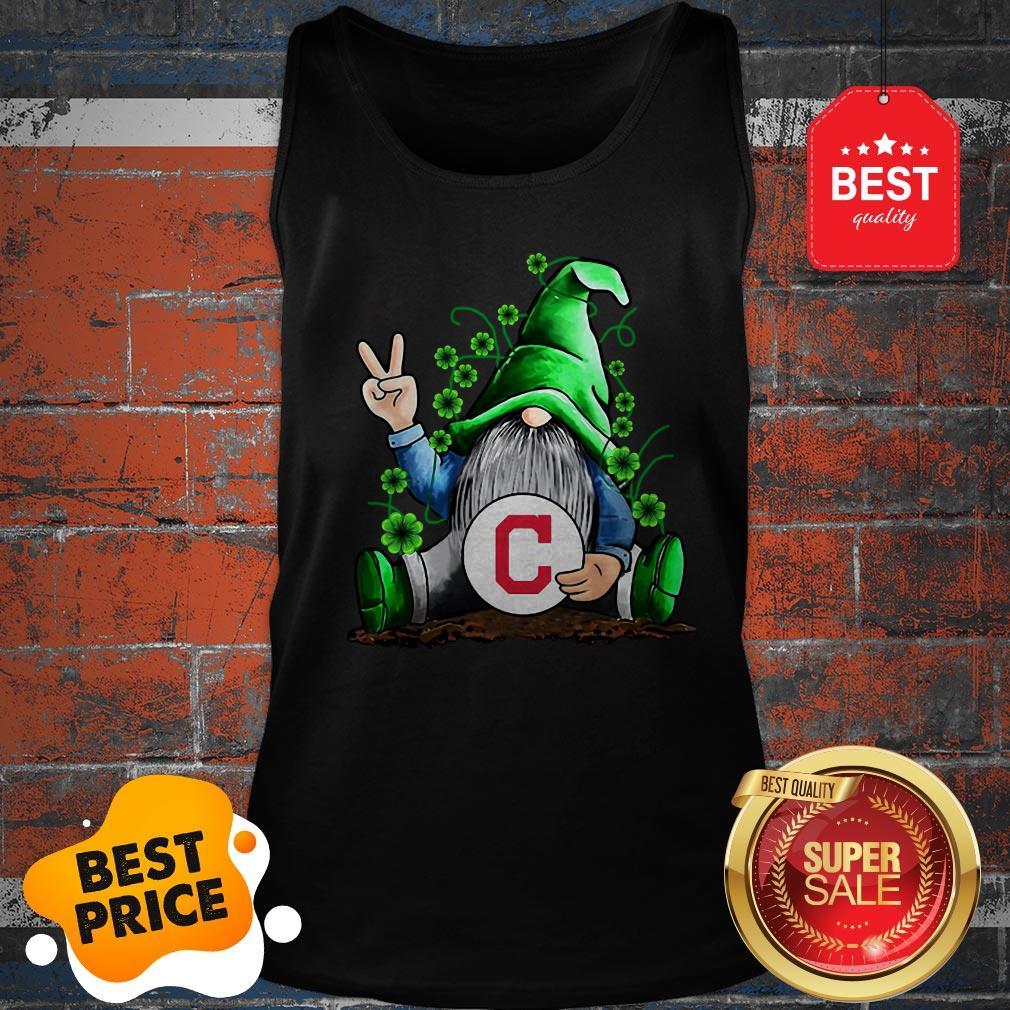 MLB Gnomes Lucky Hug Cleveland Indians Baseball Tank Top