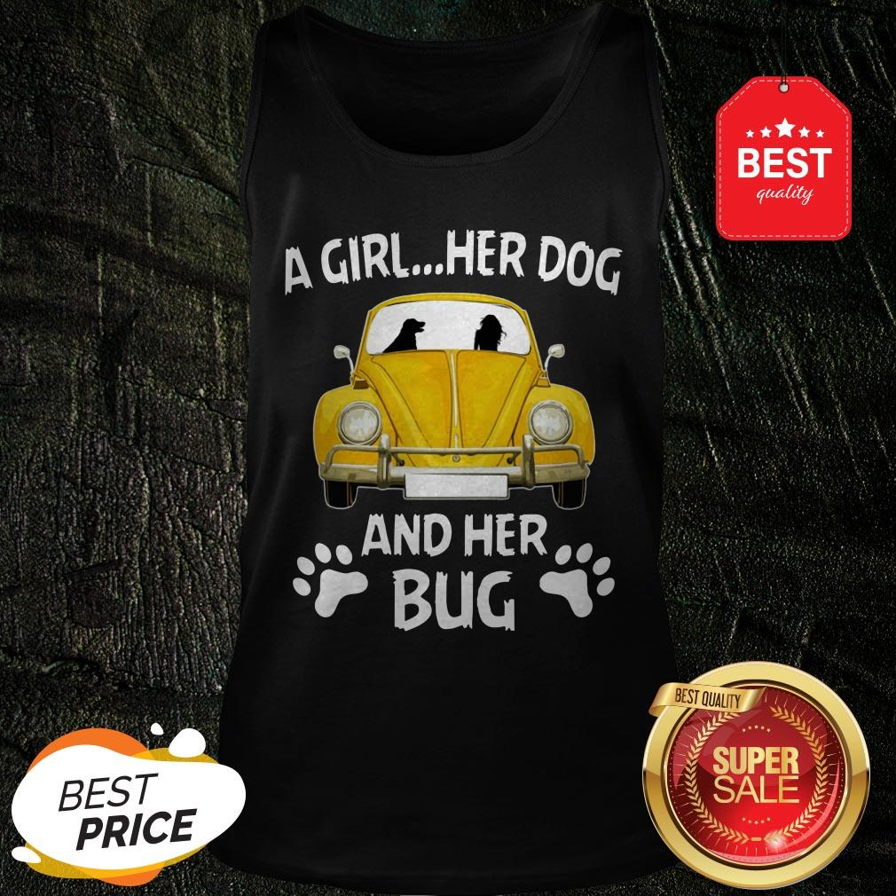 Nice A Girl Her Dog And Her Bug Volkswagen Beetle Tank Top