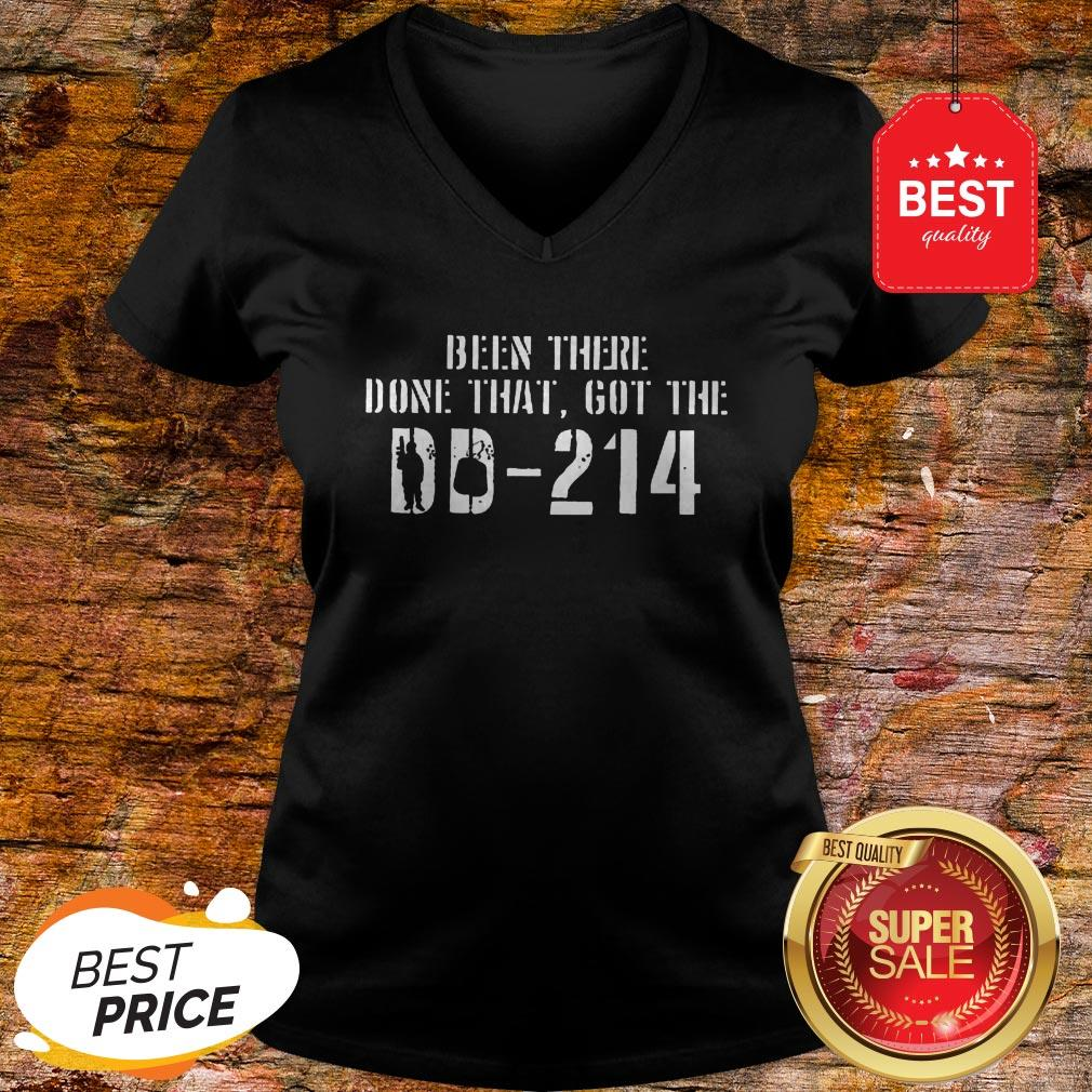 Nice Been There Done That Got The DD-214 Veteran V-neck