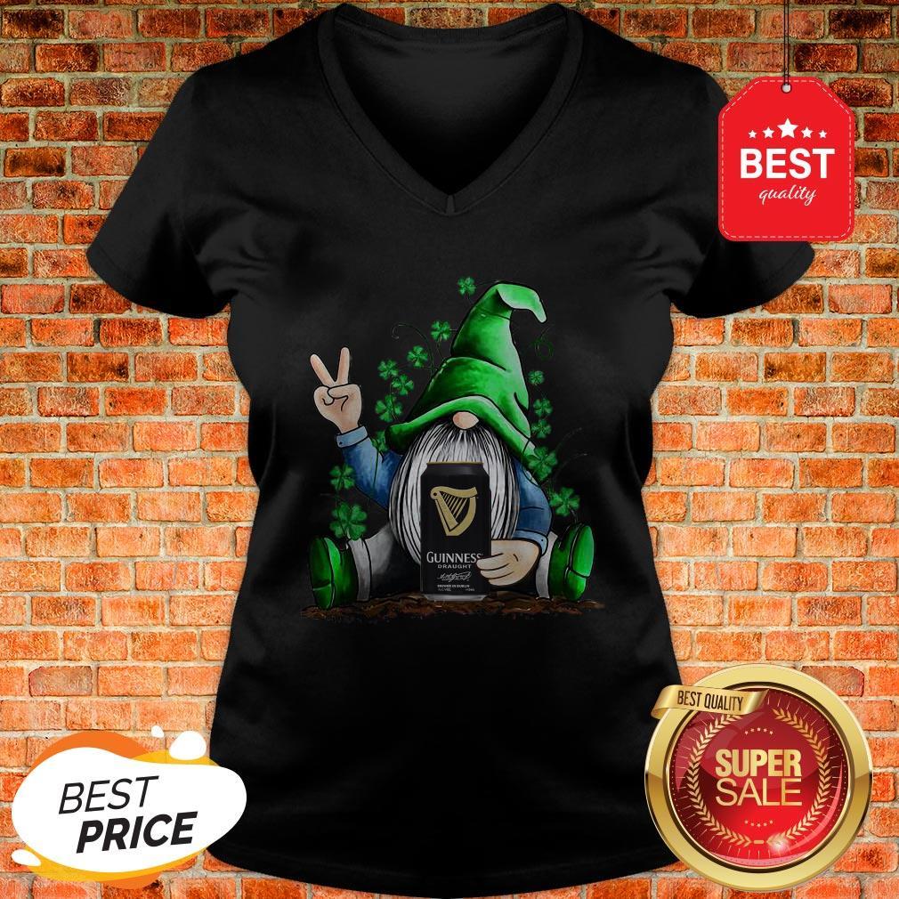 Nice Gnome Hug Guinness Irish St. Patrick's Day V-neck
