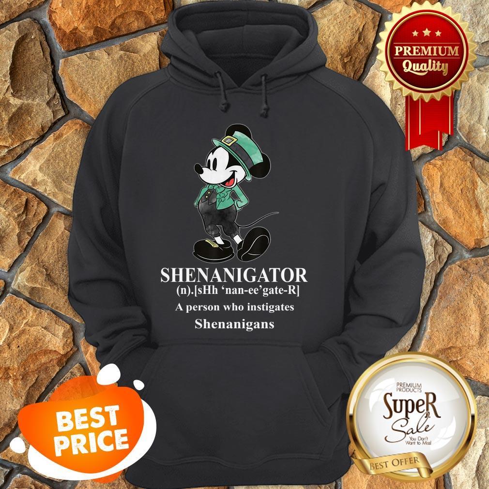 Nice Mickey Mouse Shenanigator Define St. Patrick's Day Hoodie