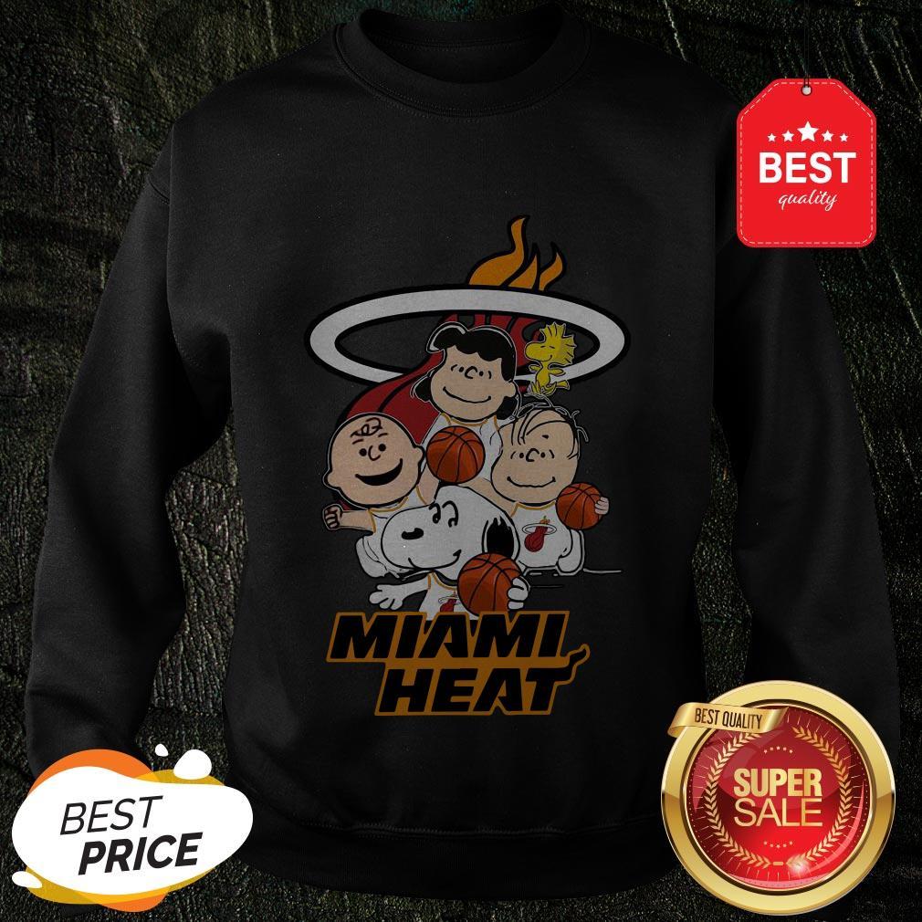 Nice Peanut Characters Mashup Miami Heat Sweatshirt