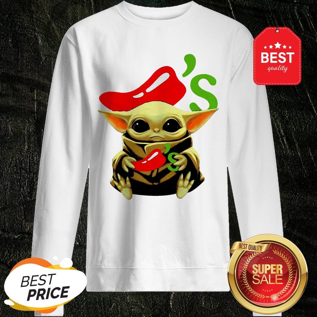 Official Baby Yoda Hug Chili's Star Wars Sweatshirt