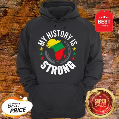 Official Black History Month African Map Colors Hoodie