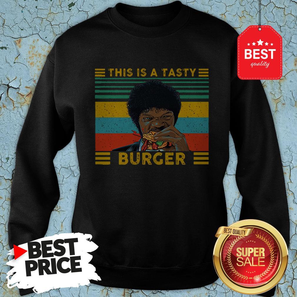 Vintage Pulp Fiction This Is A Tasty Burger Samuel L. Jackson Sweatshirt
