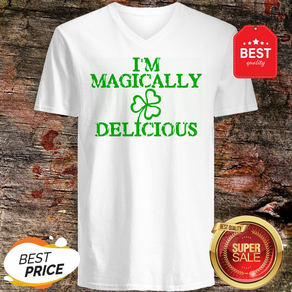I'm Magically Delicious Sexy Adult St. Patricks Day V-neck