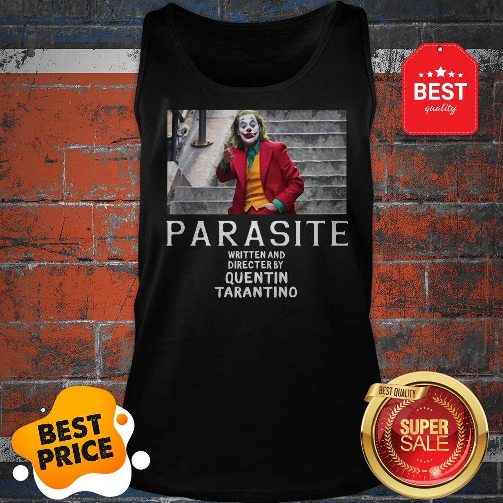 Official Joker Parasite Written And Directed By Quentin Tarantino Tank Top