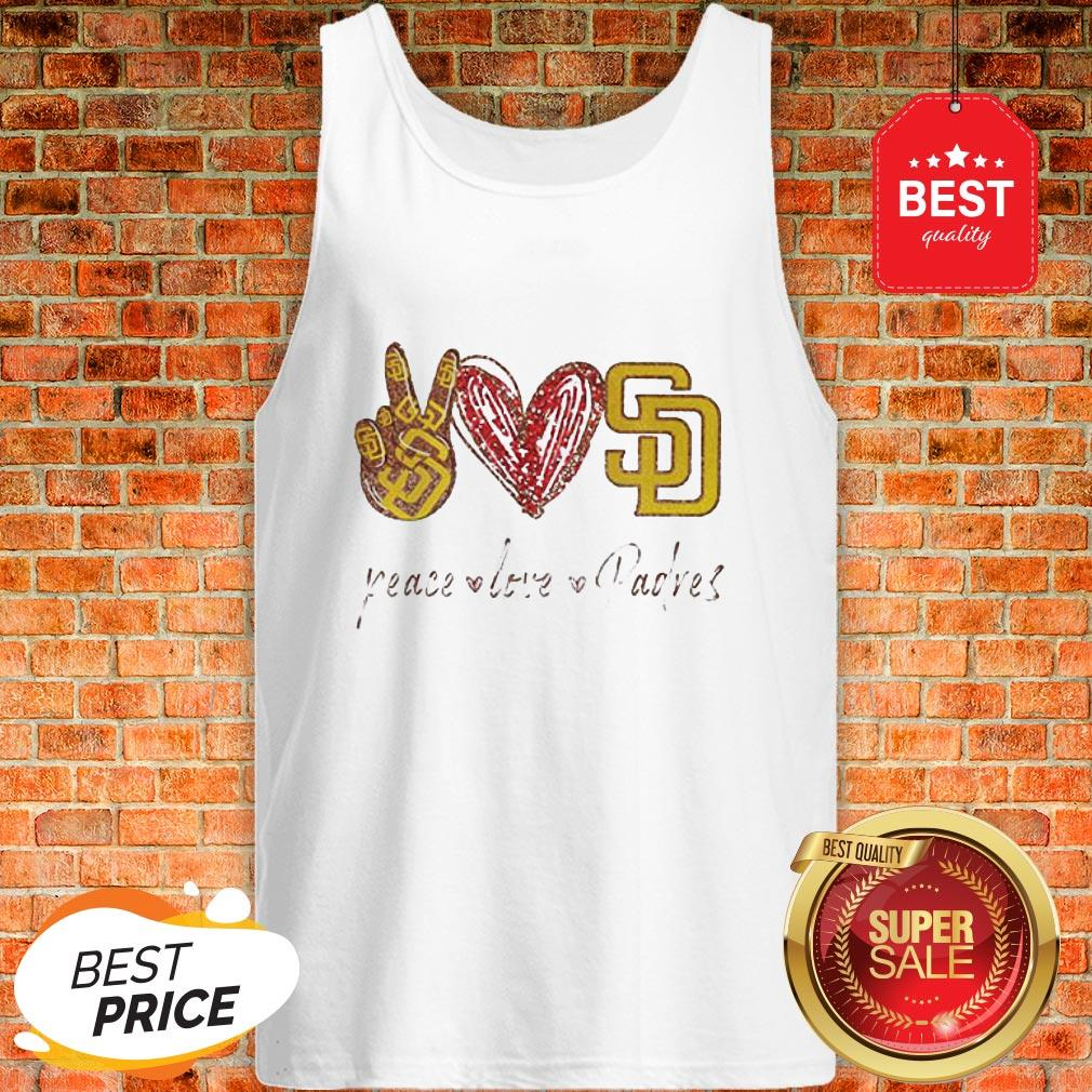 Official Peace love Diego Padres Tank Top