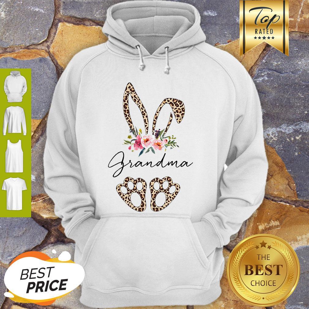 Official Rabbit Bunny Leopard Grandma Flower Hoodie