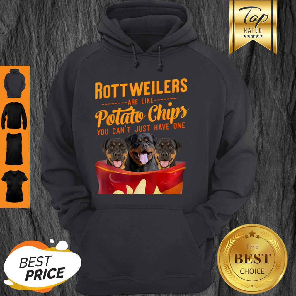 Premium Rottweilers And Potatoes Chips Funny Dog Mama Papa Hoodie