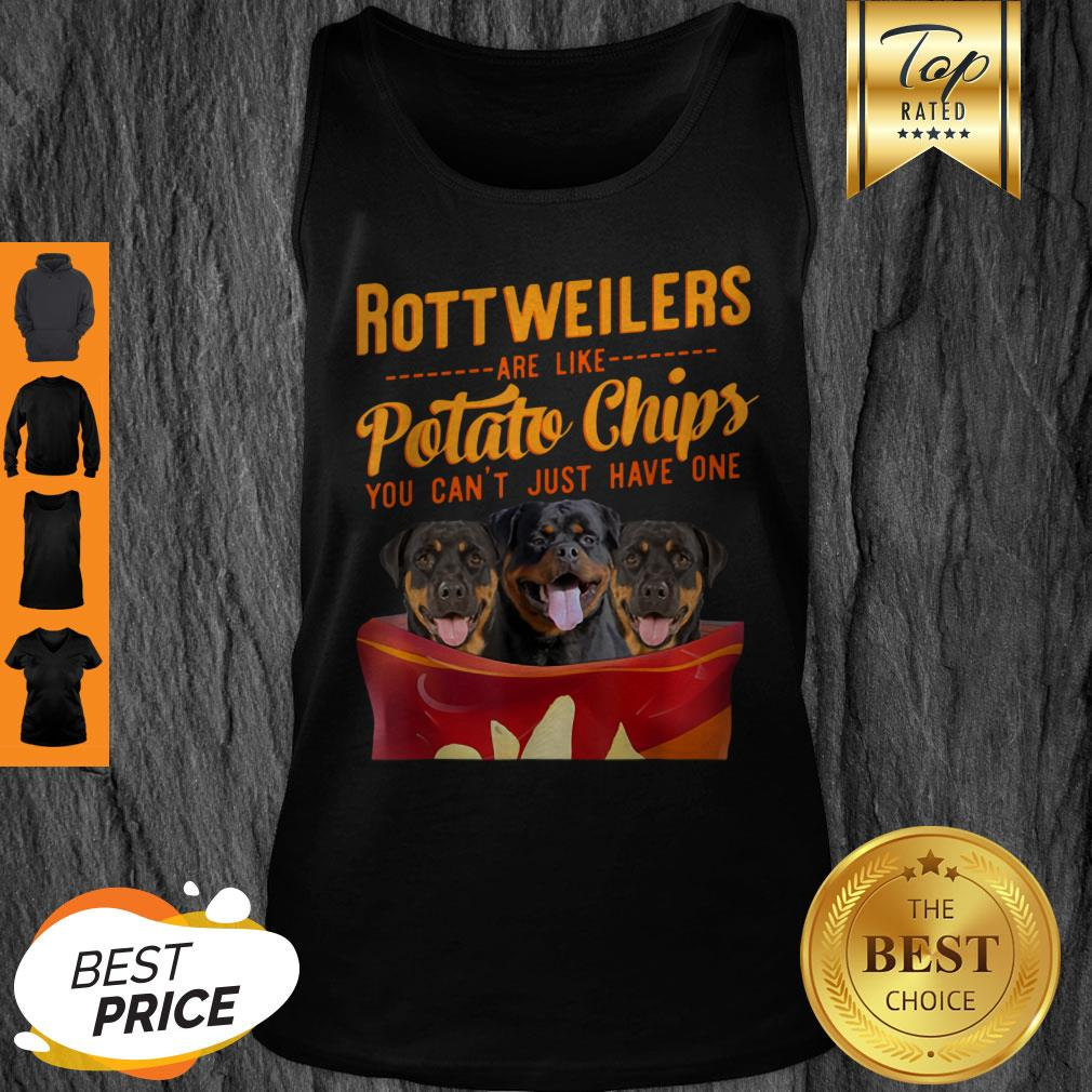 Premium Rottweilers And Potatoes Chips Funny Dog Mama Papa Tank Top