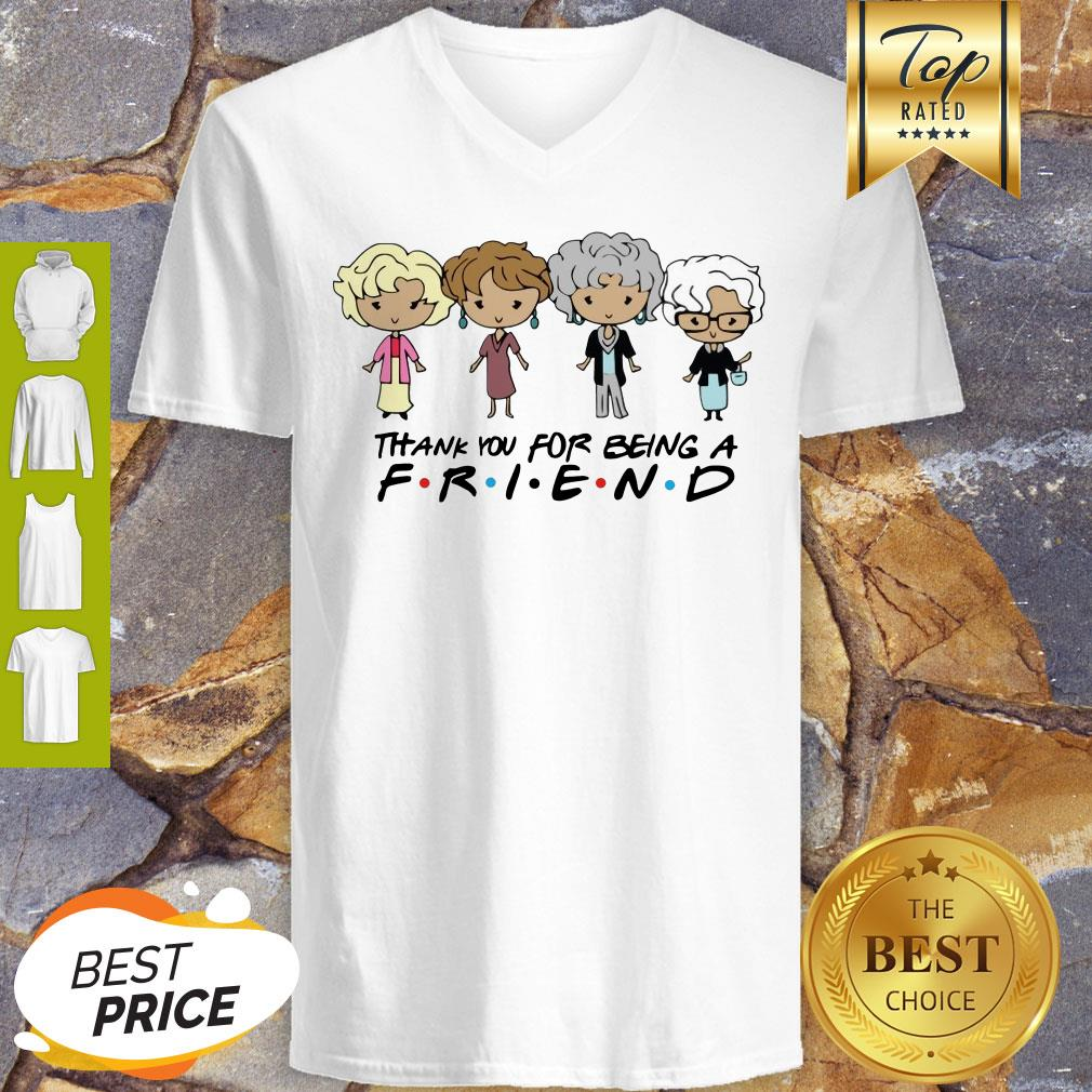 The Golden Girl Chibi Thank You For Being A Friend V-neck