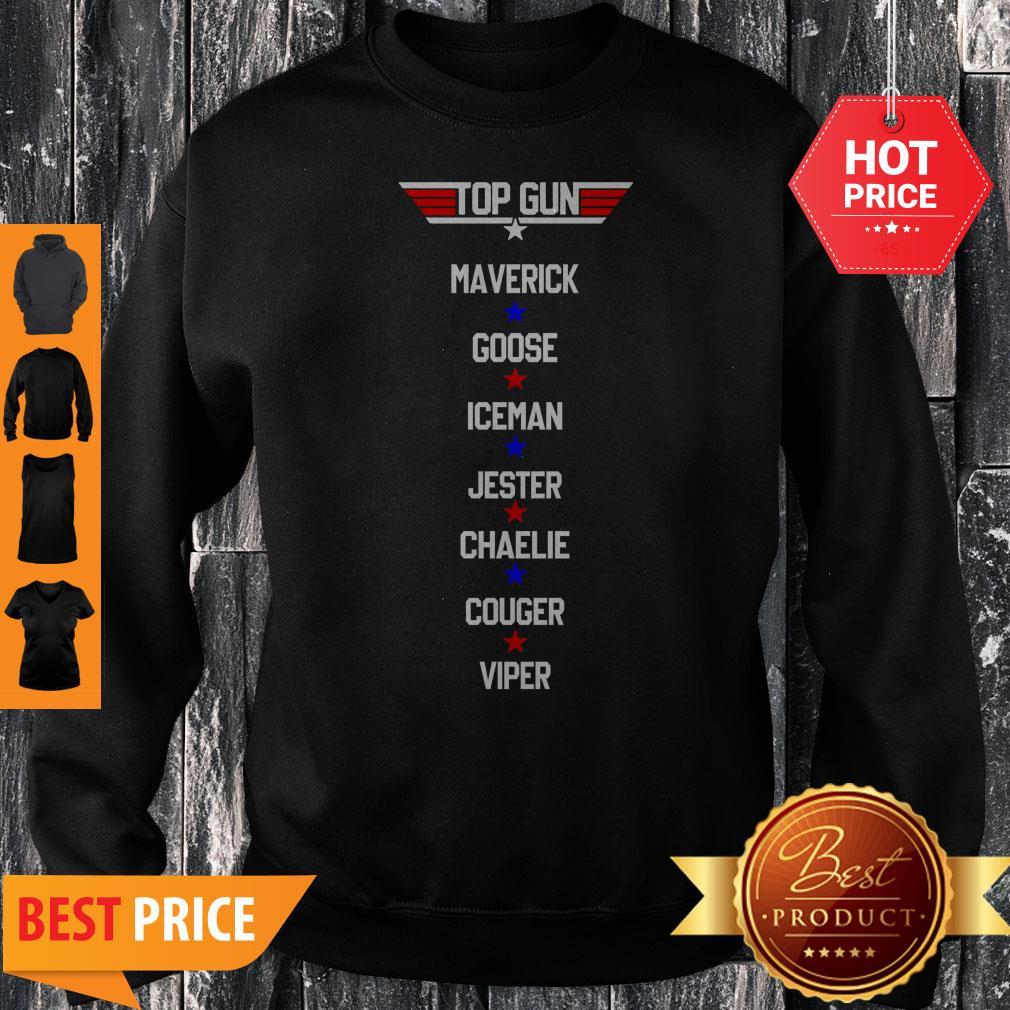 Top Gun Maverick Goose Iceman Jester Charlie Couger Viper Sweatshirt