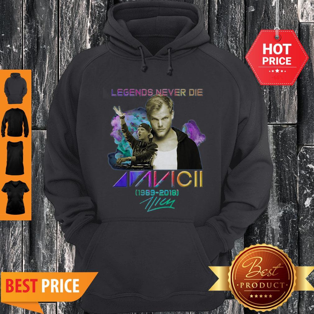 Legend Never Die Avicii 1989 2018 Signatures Hoodie