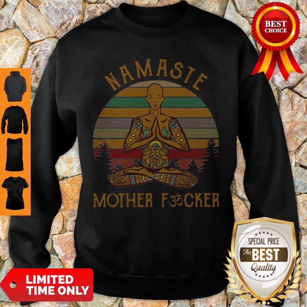 Vintage Yoga Namaste Mother Fucker Sweatshirt