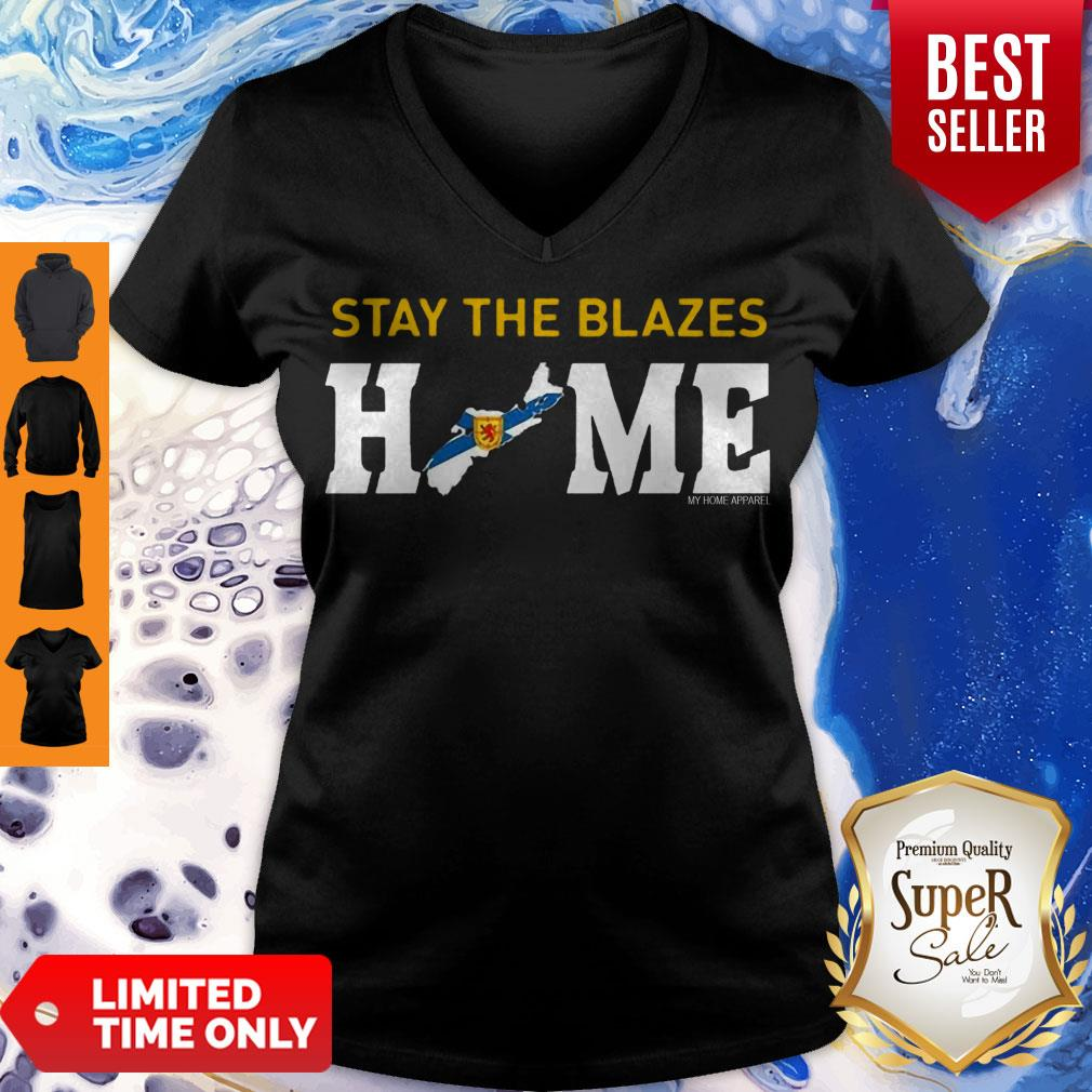 Top Nova Scotia Stay The Blazes Home My Home Apparel V-neck