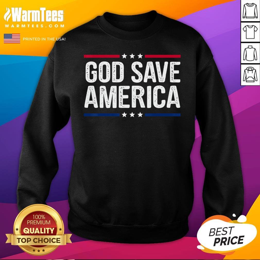 Hot God Save America Shirt Retro Vintage Style Tee Sweatshirt - Desisn By Warmtees.com