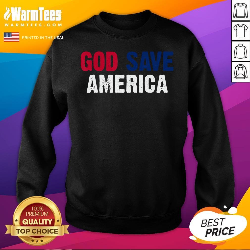 Offcial God Save America Shirt Retro Vintage American Flag Sweatshirt  - Desisn By Warmtees.com