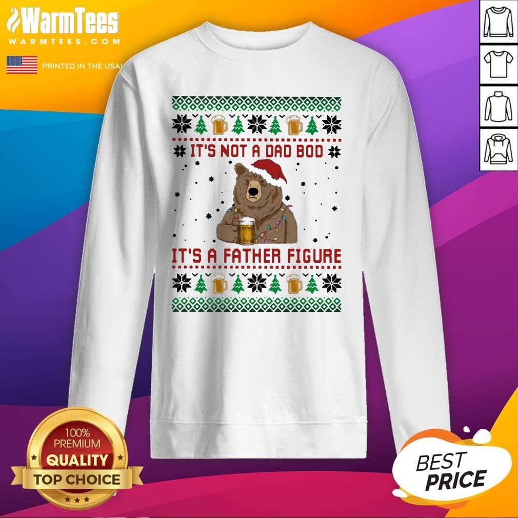 Fantastic Santa Bear Drink Beer Its Not A Bad Boy Its A Father Figure Ugly Christmas Sweatshirt - Design By Warmtees.com