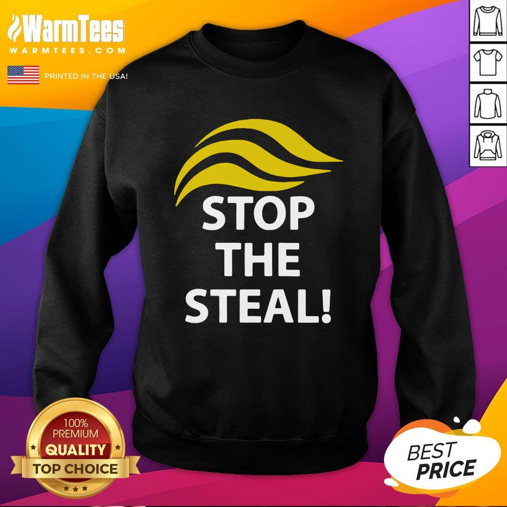 Funny Donald Trump Stop The Steal Sweatshirt - Design By Warmtees.com