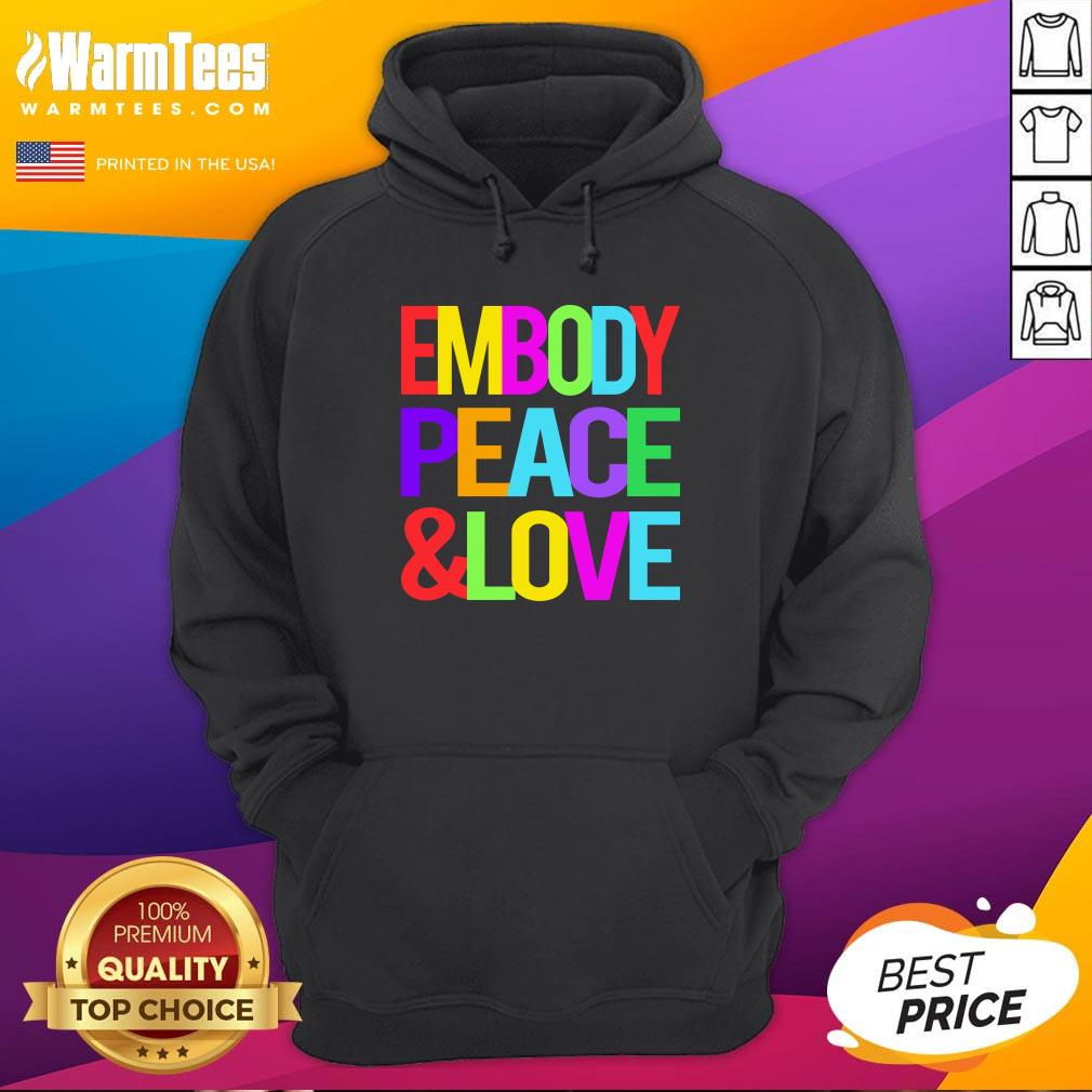 Good Youth Embody Peace And Love Hoodie - Design By Warmtees.com