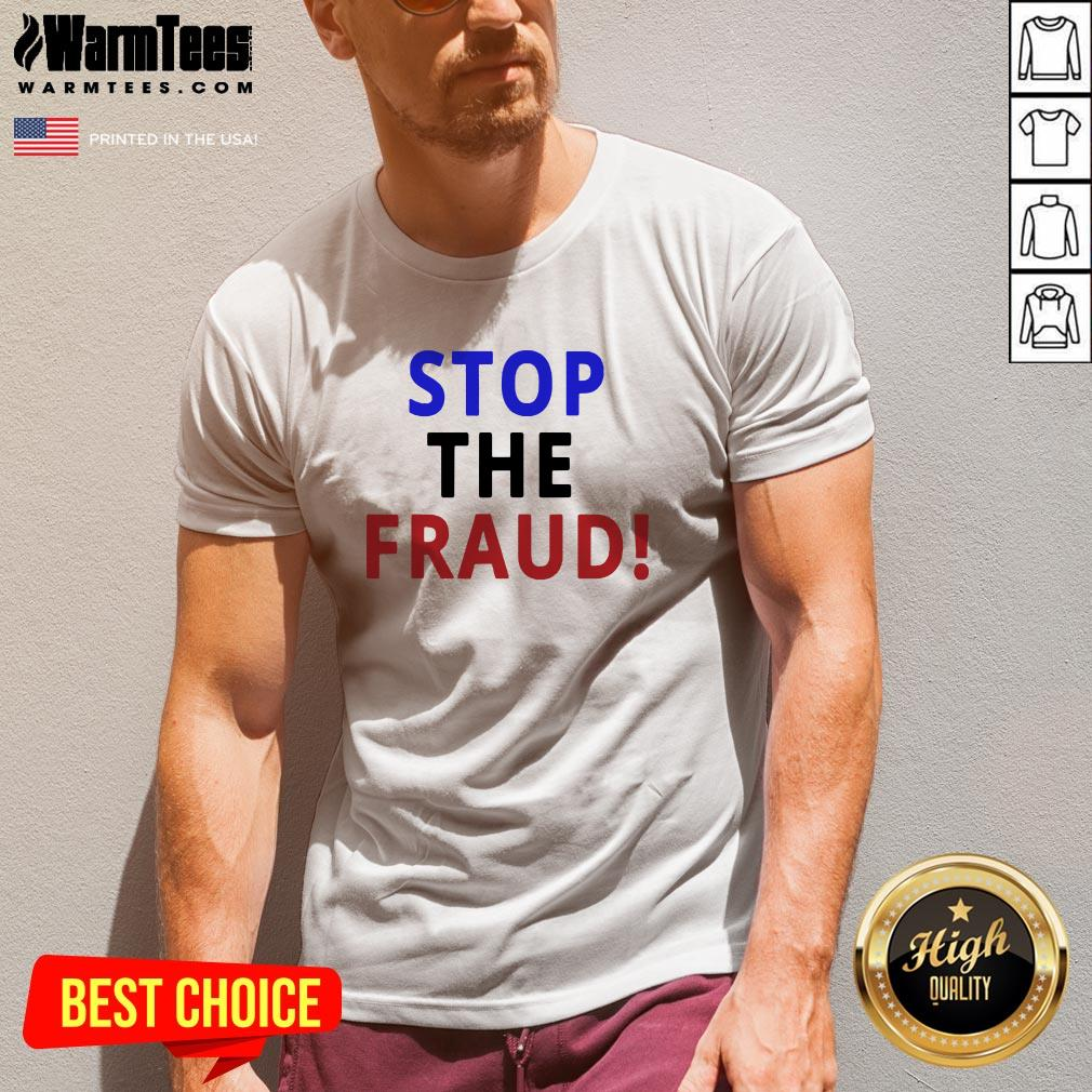 Happy Stop The Fraud 2020 Presidential Election Was Rigged V-neck - Design By Warmtees.com