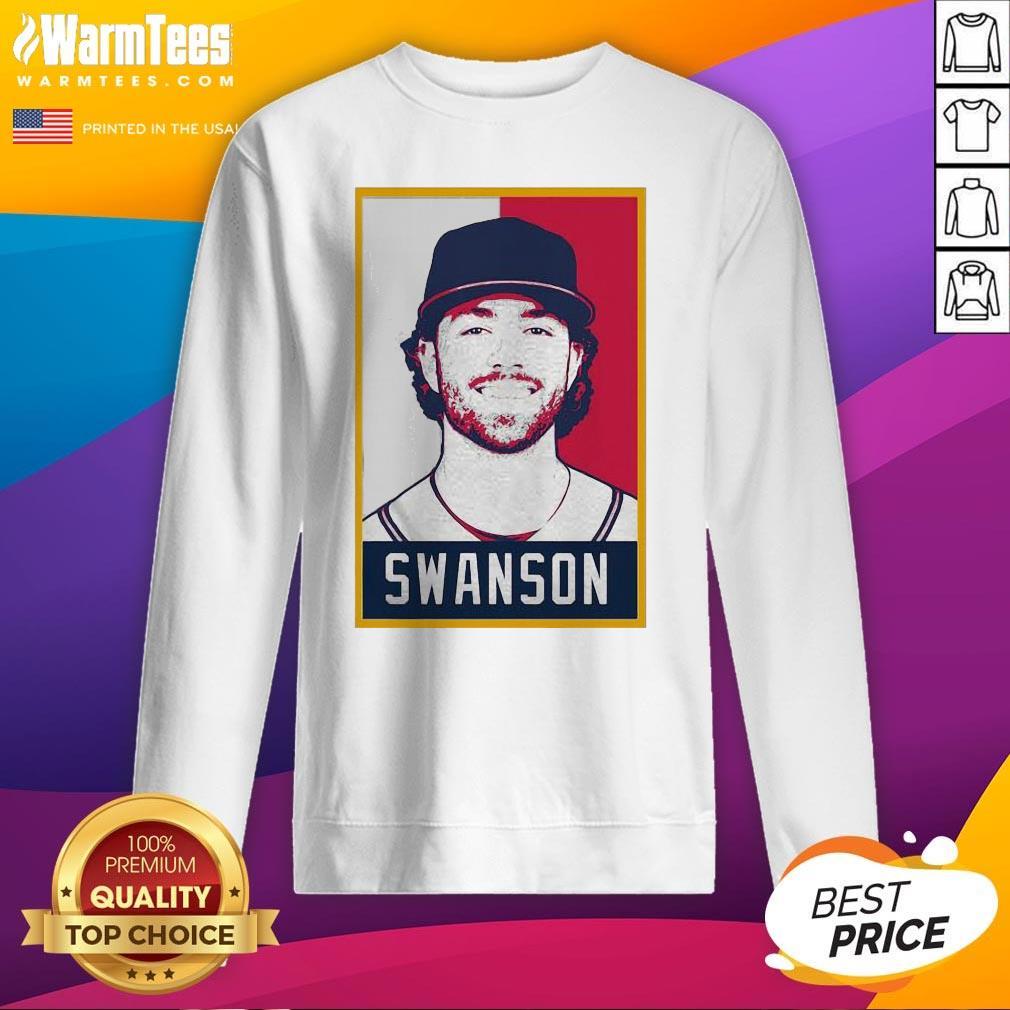 Hot Dansby Swanson Baseball Player Art Sweatshirt - Design By Warmtees.com