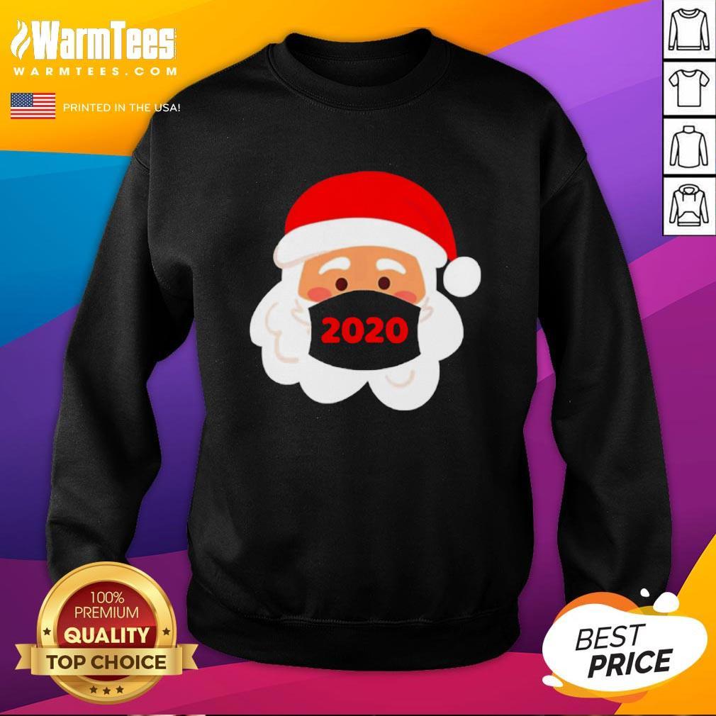 Lovely Santa Claus Face Mask Christmas 2020 Sweatshirt - Design By Warmtees.com