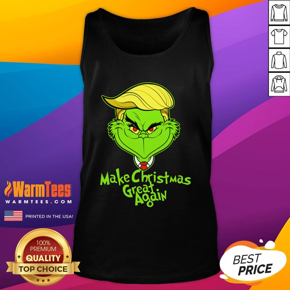 Official Grinch Trump Make Christmas Great Again Tank Top - Design By Warmtees.com