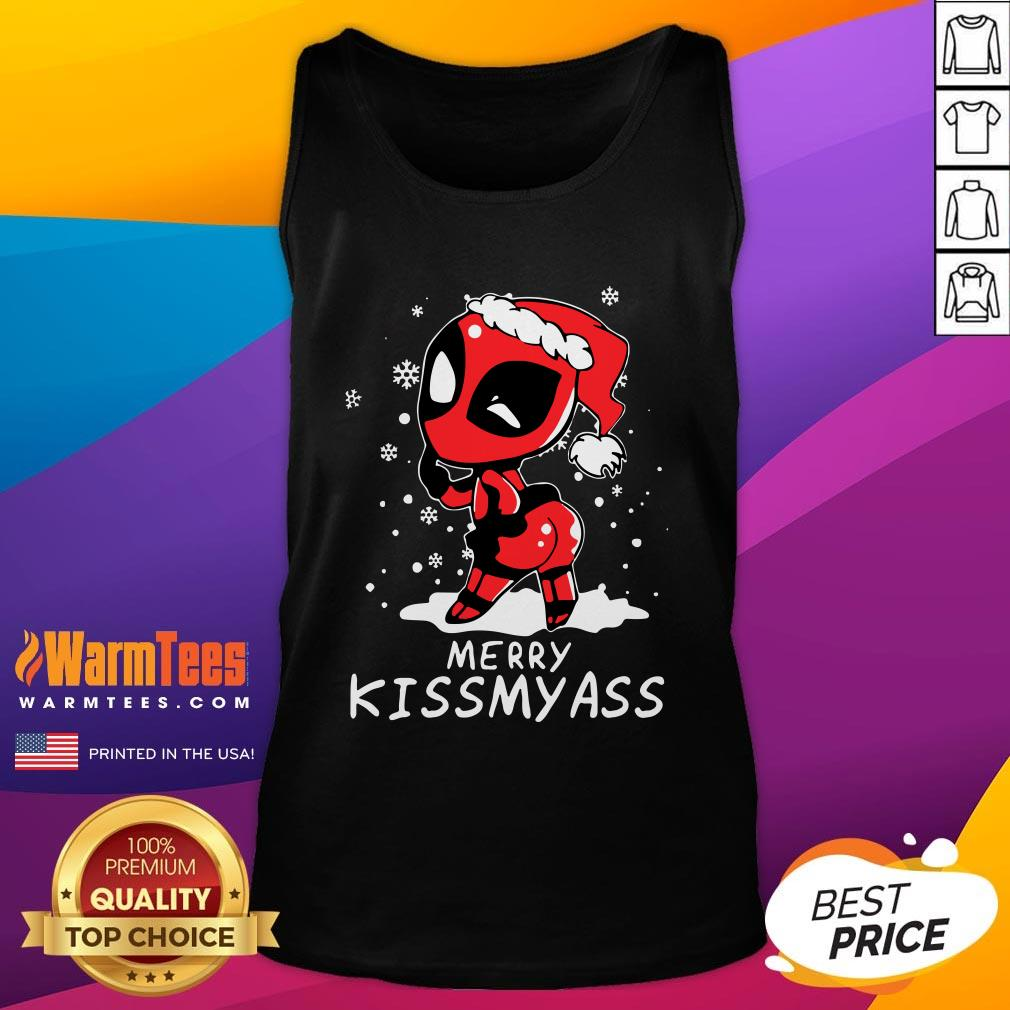 Premium Santa Deadpool Merry Kiss My Ass Christmas Tank Top - Design By Warmtees.com