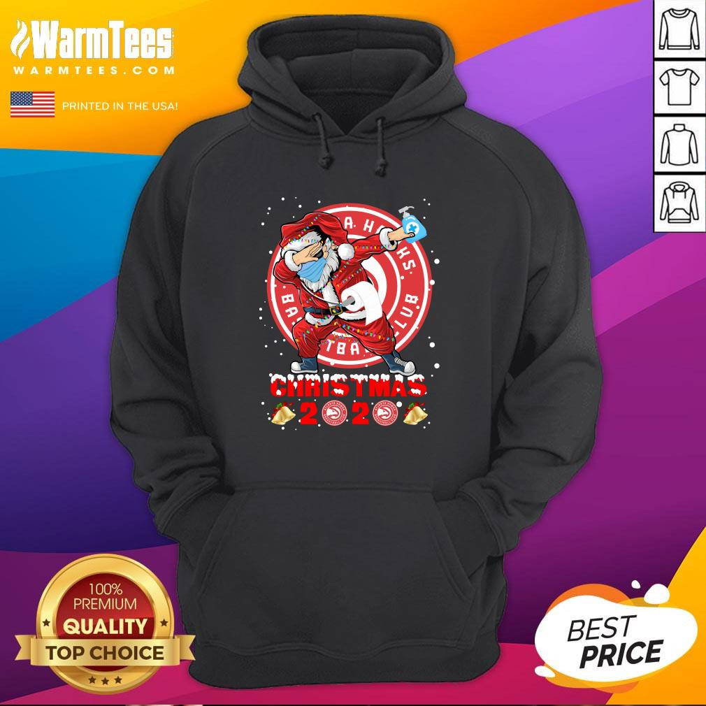 Pretty Atlanta Hawks Funny Santa Claus Dabbing Christmas 2020 Hoodie - Design By Warmtees.com