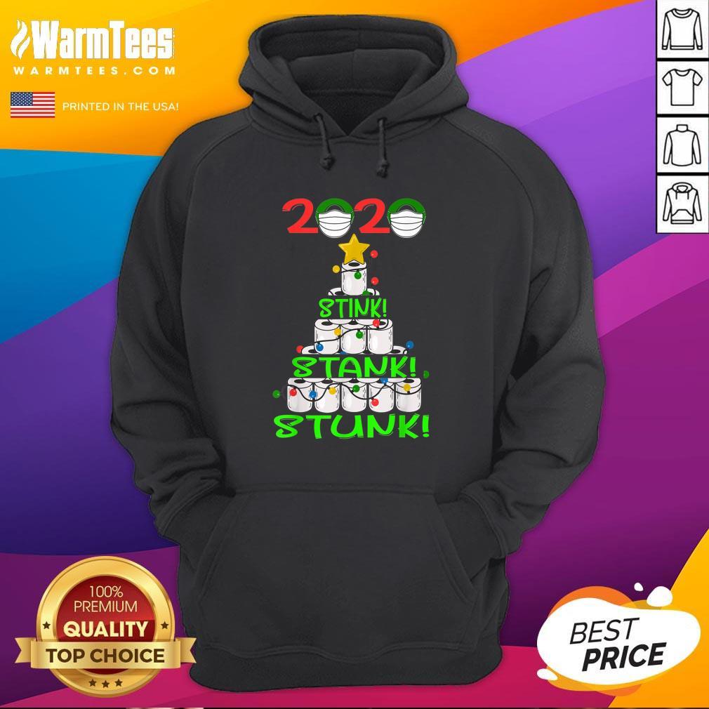 Pro 2020 Stink Stank Stunk Funny Quarantine Ugly Christmas Mask Hoodie - Design By Warmtees.com