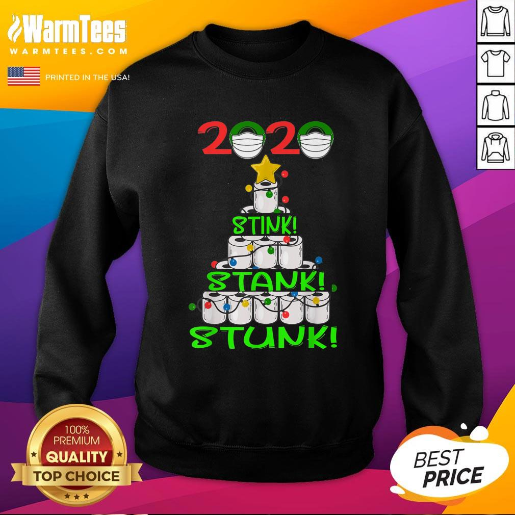 Pro 2020 Stink Stank Stunk Funny Quarantine Ugly Christmas Mask Sweatshirt - Design By Warmtees.com
