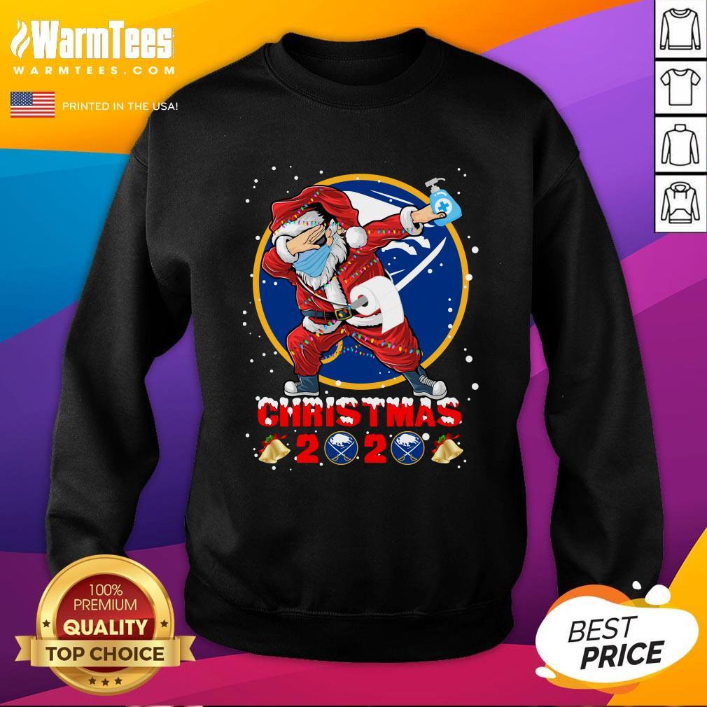 Pro Buffalo Sabres Funny Santa Claus Dabbing Christmas 2020 Sweatshirt - Design By Warmtees.com