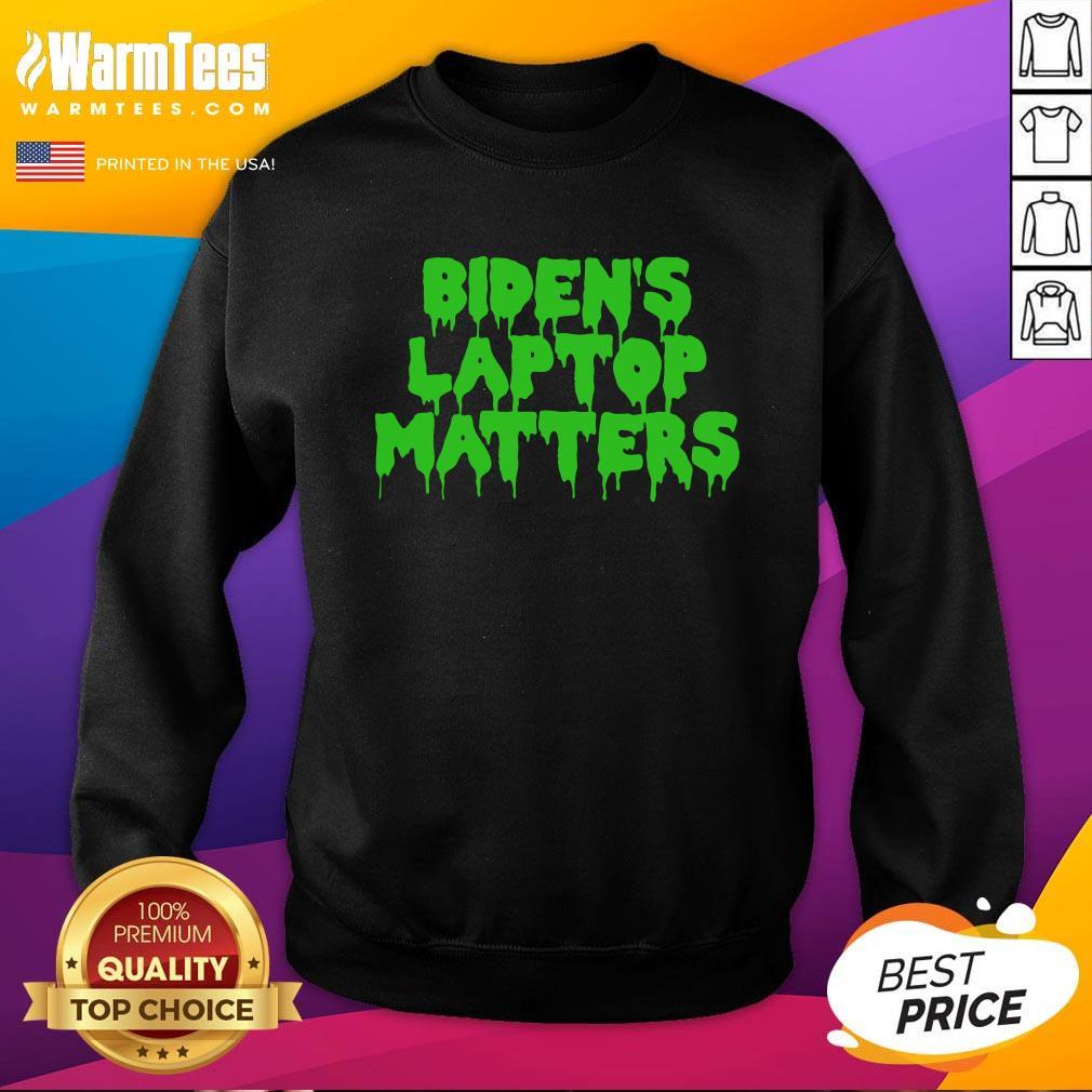Vip Biden's Laptop Matters Political Swamp Green Sweatshirt - Design By Warmtees.com