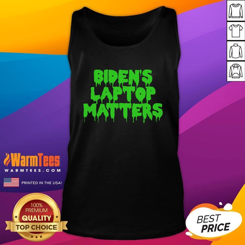 Vip Biden's Laptop Matters Political Swamp Green Tank Top - Design By Warmtees.com