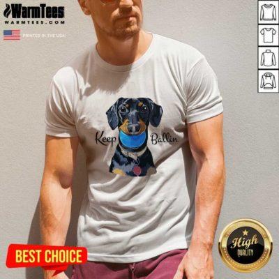 Keep Ballin V-neck - Design By Warmtees.com