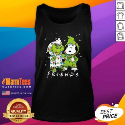 Baby Grinch And Snoopy Friends Merry Christmas Light Tank Top - Design By Warmtees.com