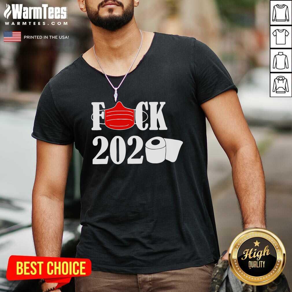 Fuck Face Mask 2020 Toilet Paper V-neck - Design By Warmtees.com