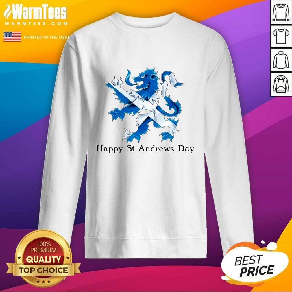 St Andrew's Day Celebration Lion SweatShirt - Design By Warmtees.com