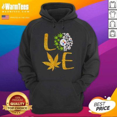 Love Steelers Cannabis Football Hoodie - Design By Warmtees.com