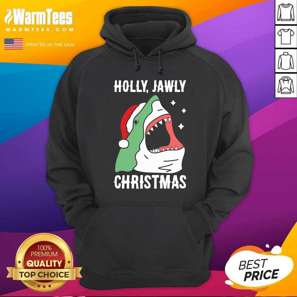 Shark Holly Jawly Christmas Hoodie  - Design By Warmtees.com