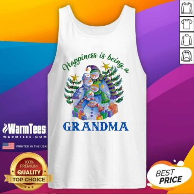 Happiness Is Being A Grandma Tank Top - Design By Warmtees.com