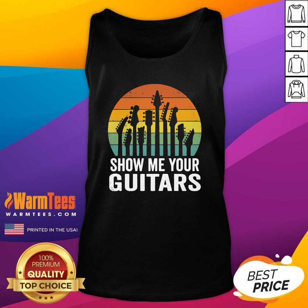 Show Me Your Guitars Vintage Retro Tank Top - Design By Warmtees.com