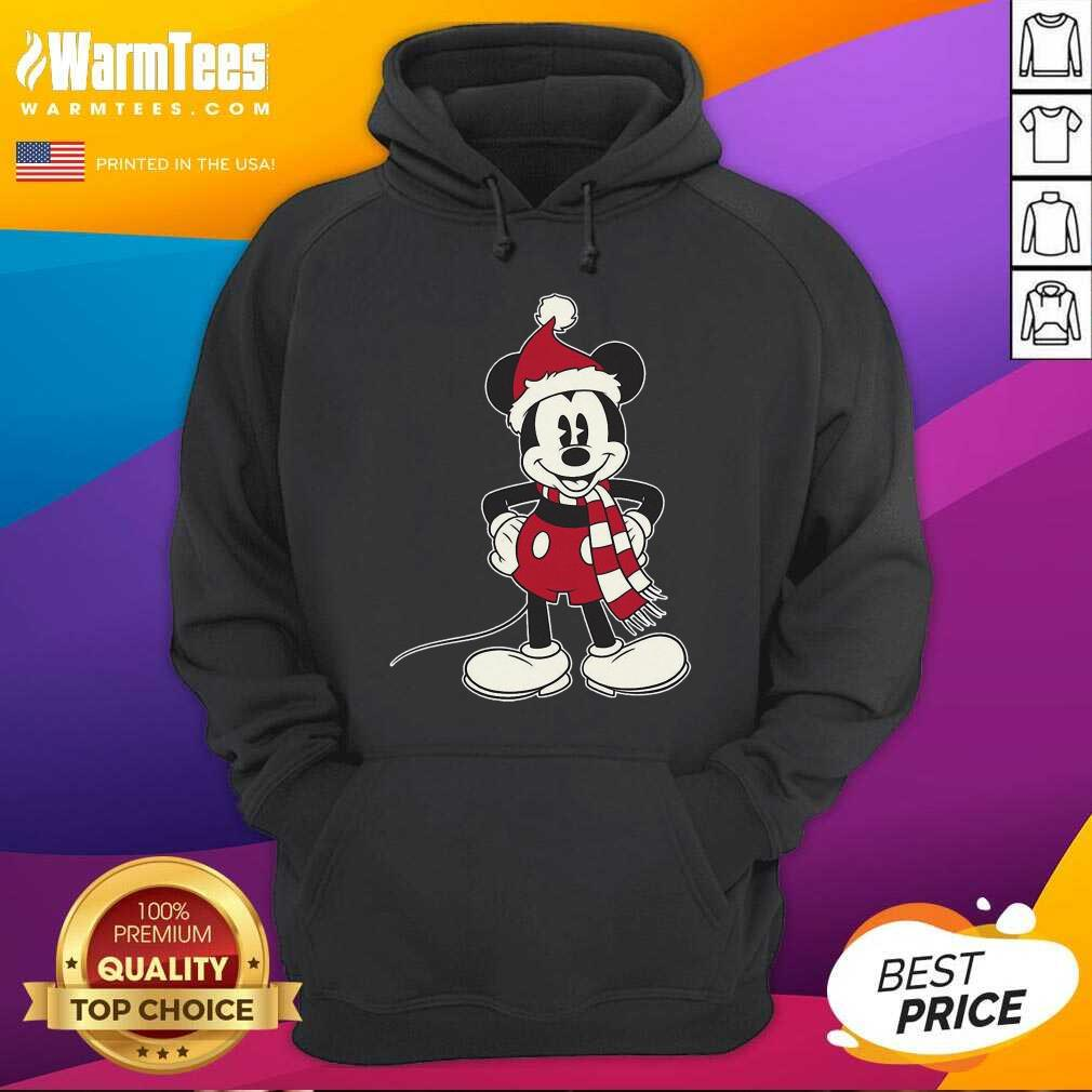 Mickey Mouse Santa Hat Merry Christmas Hoodie - Design By Warmtees.com