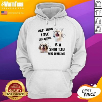 Dog First Thing I See Every Morning Is A Weimaraner Who Loves Me Hoodie - Design By Warmtees.com